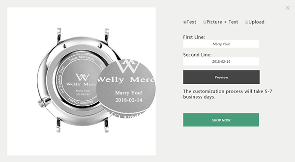 Welly Merck Customized Watch